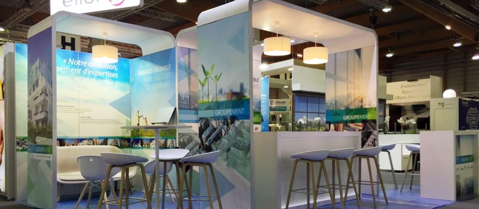 Création et location de stands modulaires d'exposition