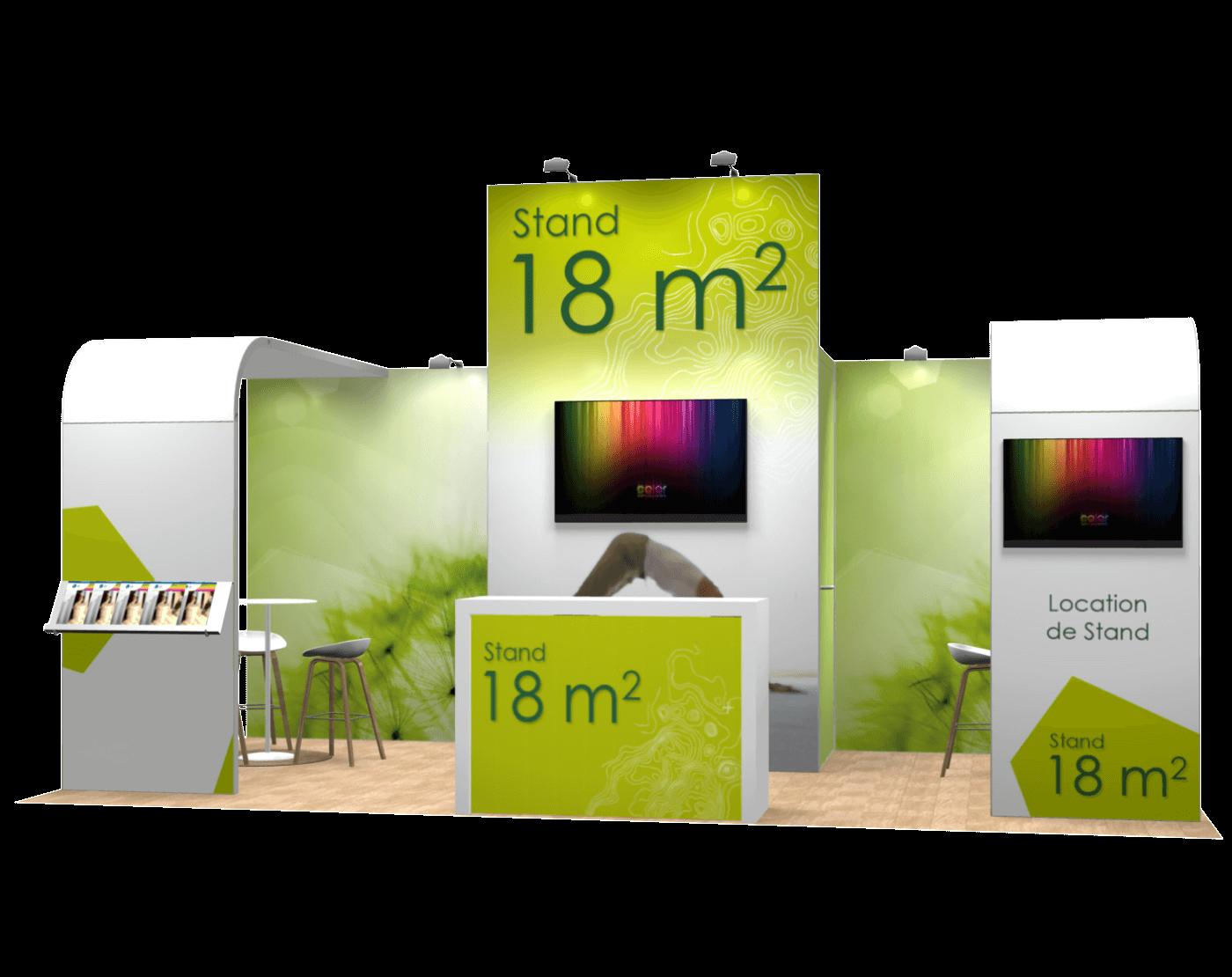 Stand modulable Alumatrix 18m2