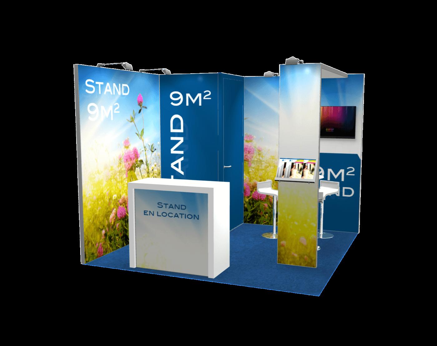 Stand modulable Alumatrix 9m2