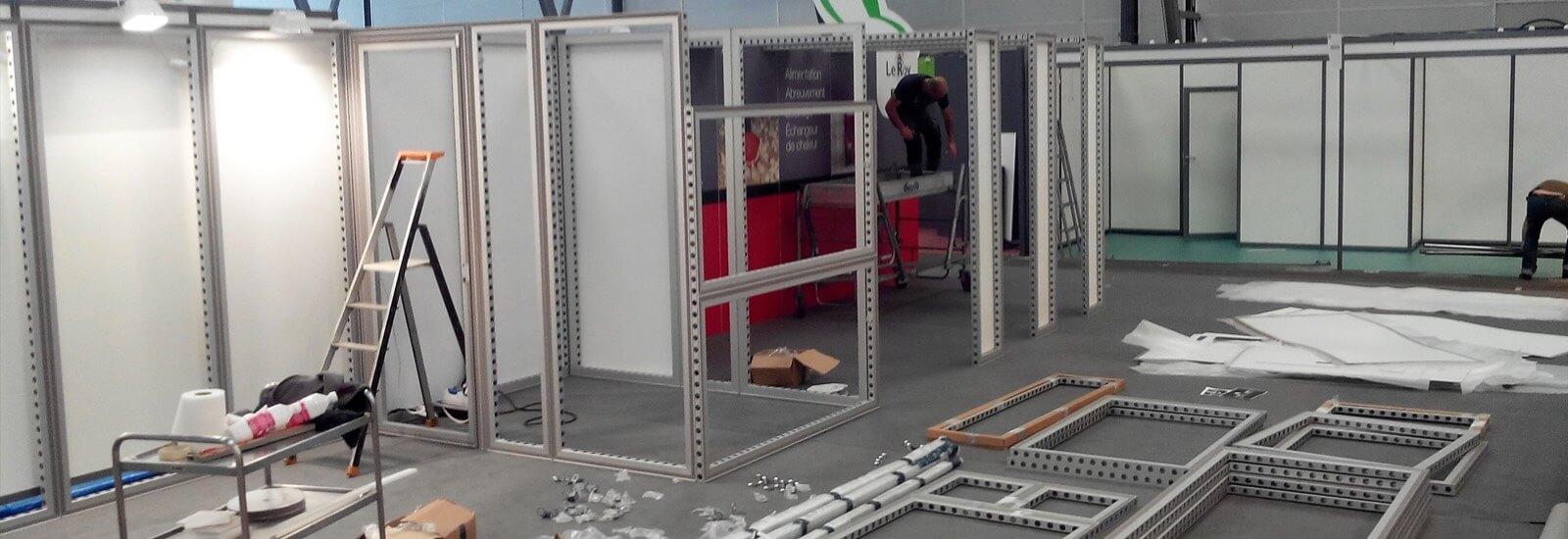 Montage et aménagement de stand