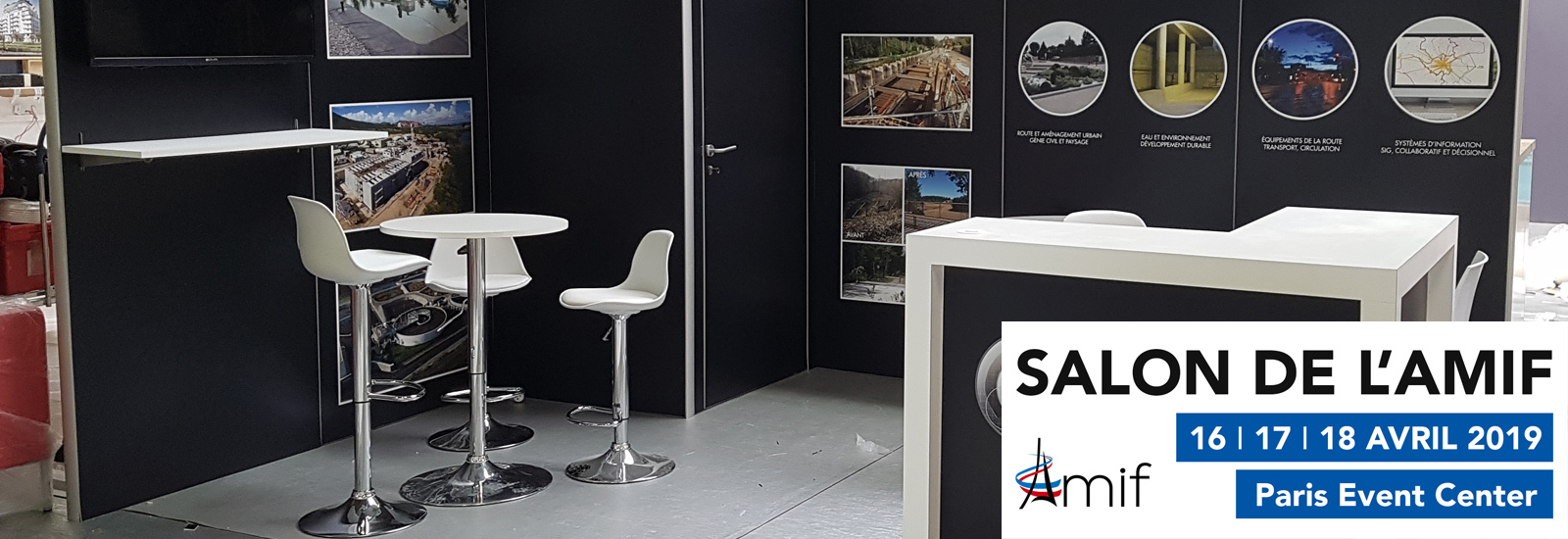 Quatre stands au salon Amif 2019